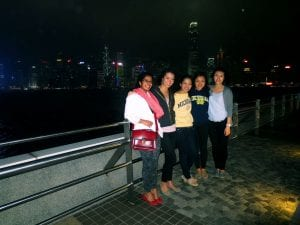 HKUST Exchange Friends by Victoria Harbour
