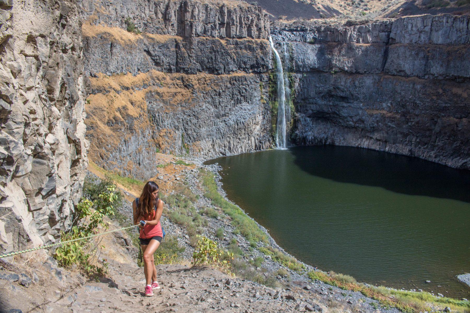 Palouse Falls climbing