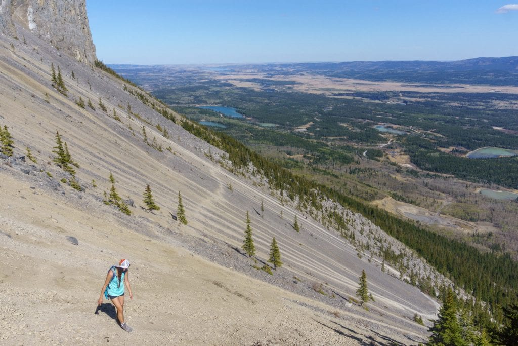 Yamnuska Scree skating