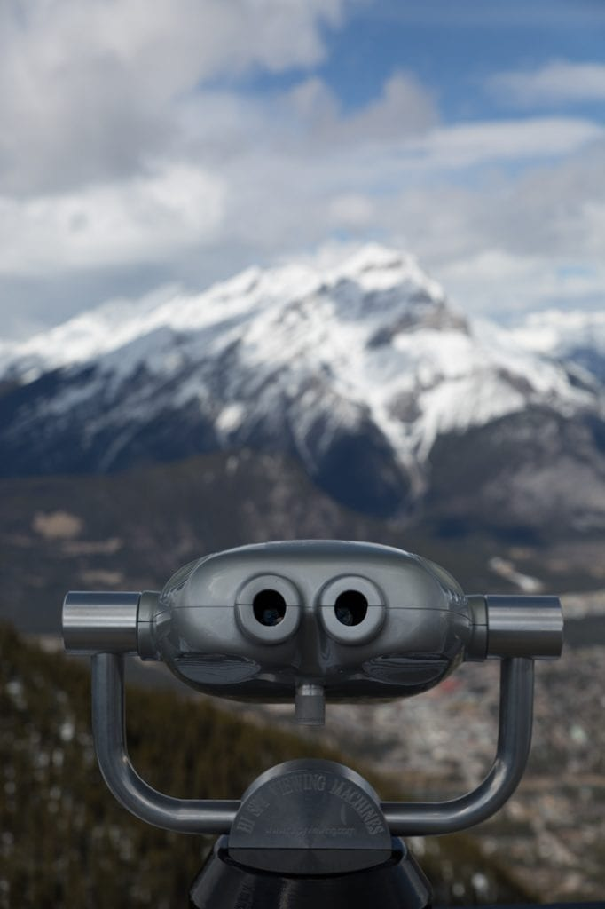 view from sulphur mountain Banff