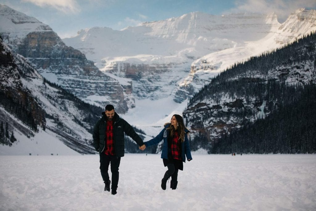 Winter at Lake Louise couples