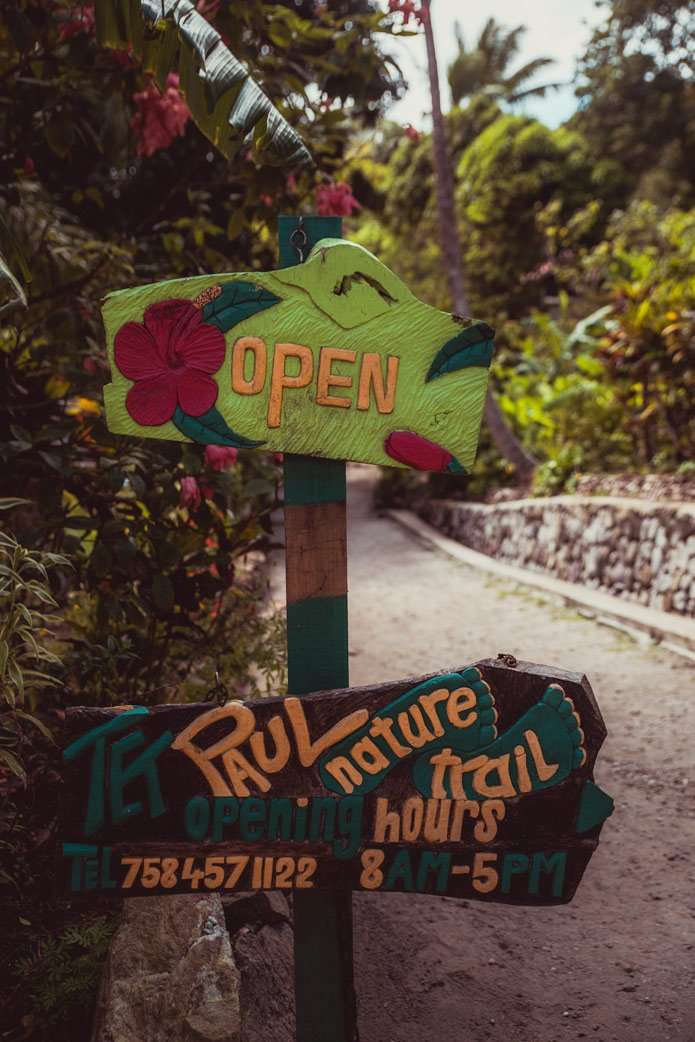 Tet Paul Trail sign St. Lucia