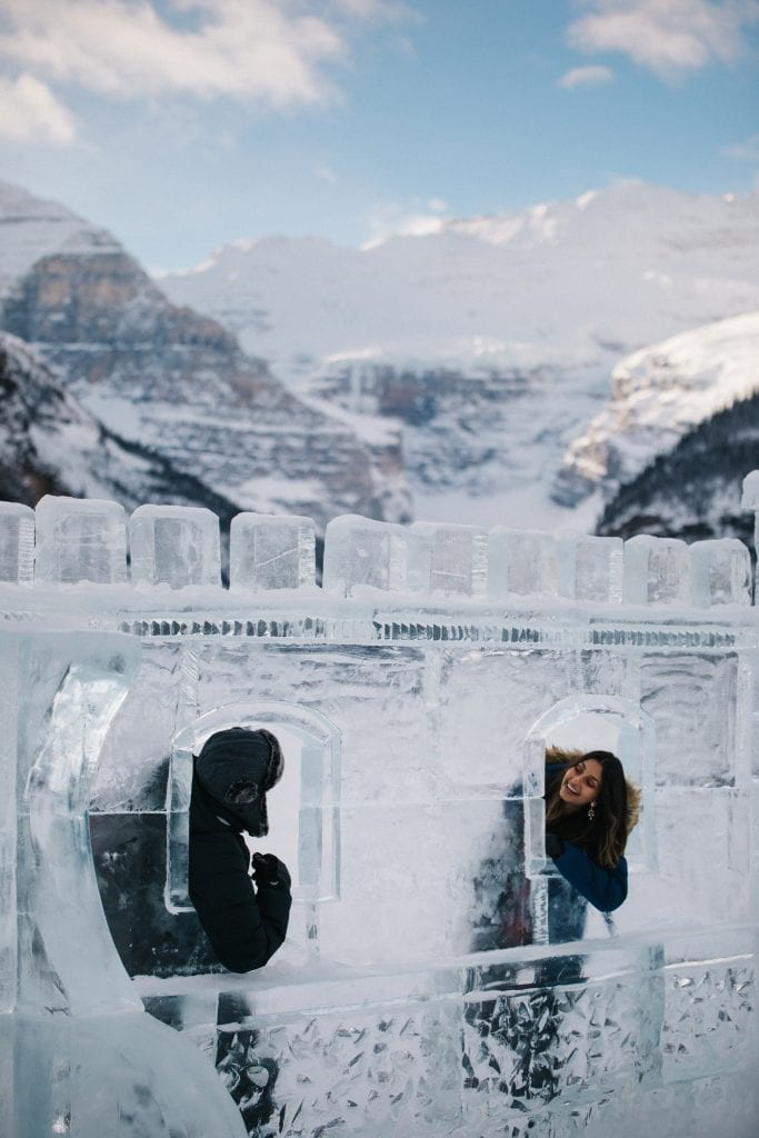 Winter at Lake Louise ice castle