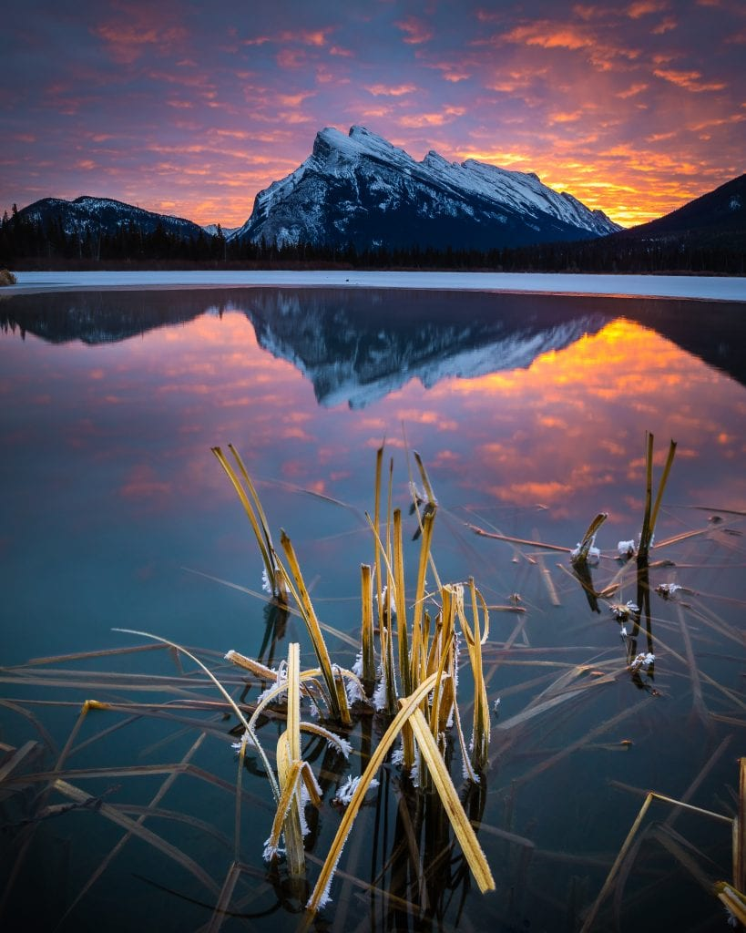 Sunrise at Vermillion Lakes