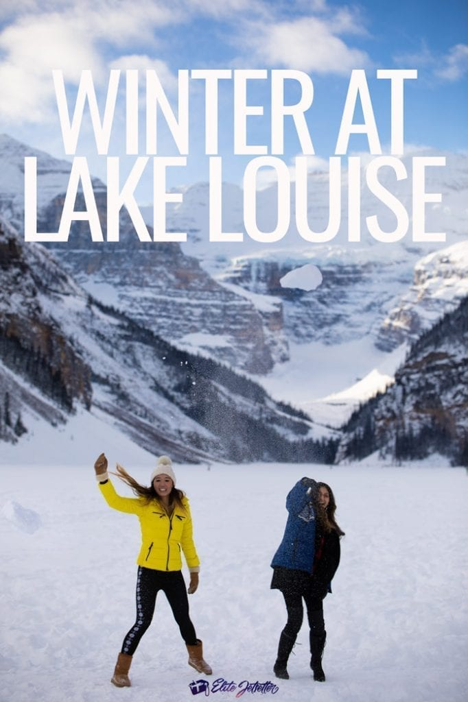 Winter at Lake Louise Pinterest snowball