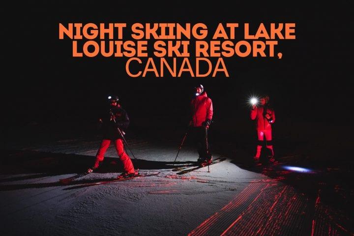 night skiing at Lake Louise