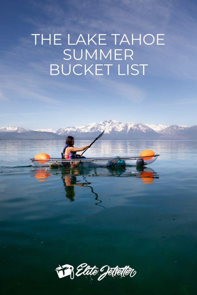 Lake Tahoe Summer Bucket List